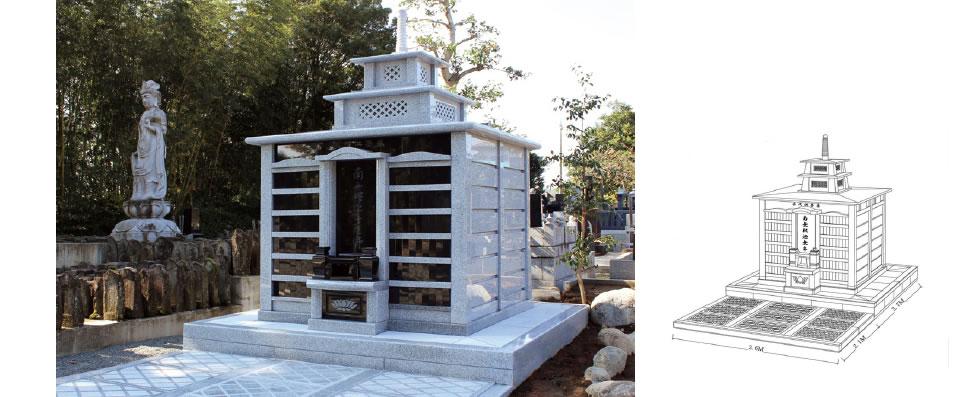 実例No.7 霊廟型 永代供養墓