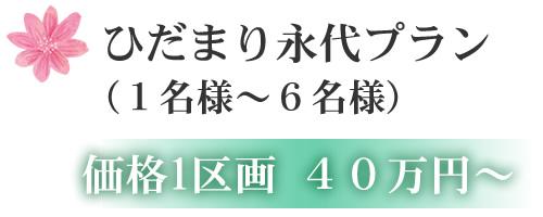 ひだまり永代プラン (1名様~6名様) 価格1区画 40万円~