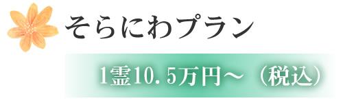 そらにわプラン 1霊10.5万円~